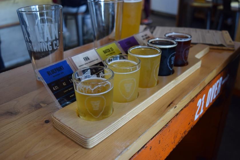 aslan brewery beer sampler bellingham wa