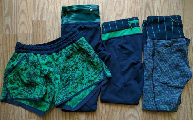 green bean inkwell lululemon bottoms shorts pants