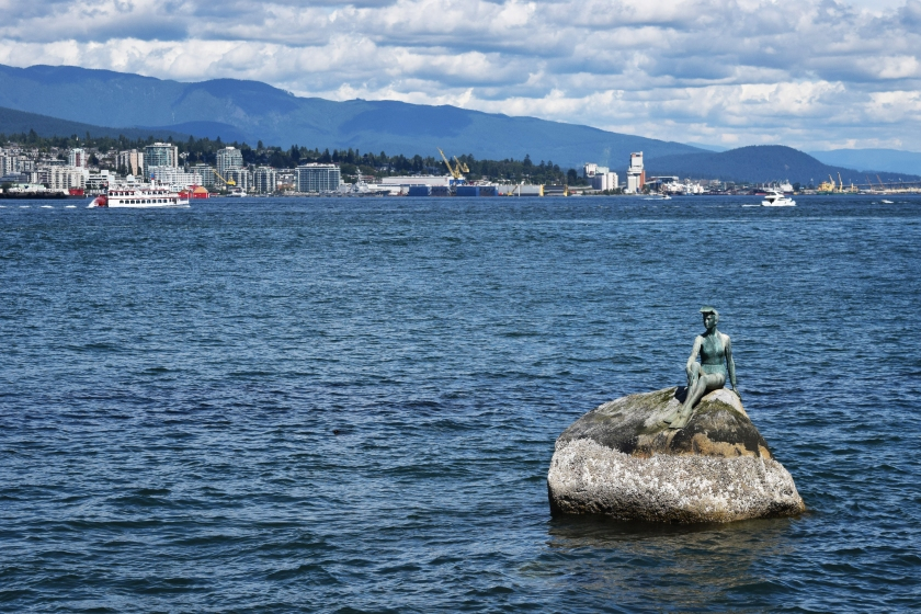 girl diving stanley park vancouver