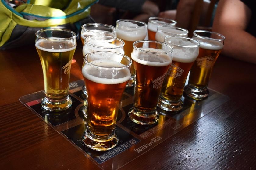 granville brewery tasting flight beer
