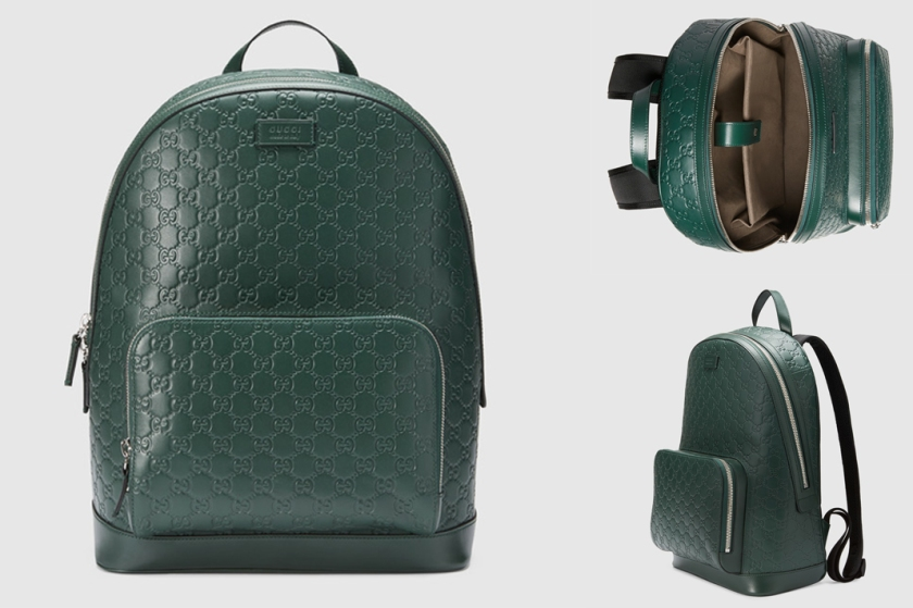 gucci signature backpack green leather.jpg