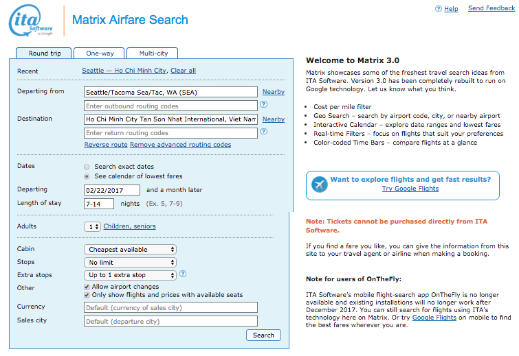 ITA Matrix Search Page.png
