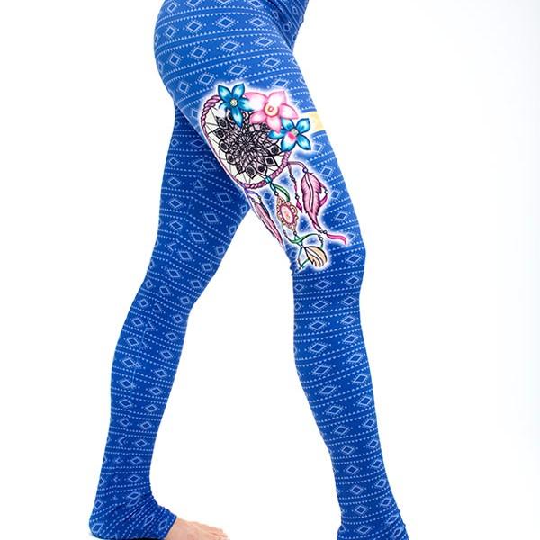 body angel activewear dream catcher leggings blue.jpg