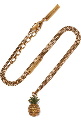 marc jacobs pineapple gold plated crystal necklace.jpg
