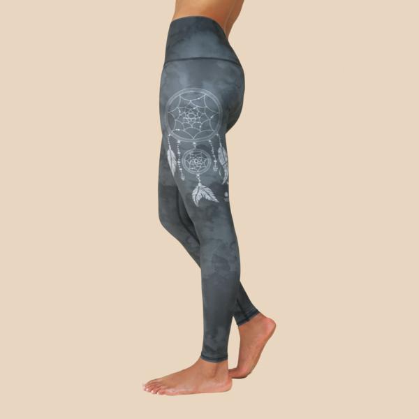 RE3 dream catcher leggings in Grey yoga.png